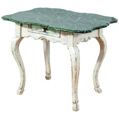 19th Century Louis XV Style Patina Baroque Coffee Side Table Gustavian Style