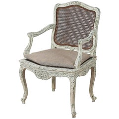 19th Century Louis XV Style Chair in New Patina in the Gustavian Style