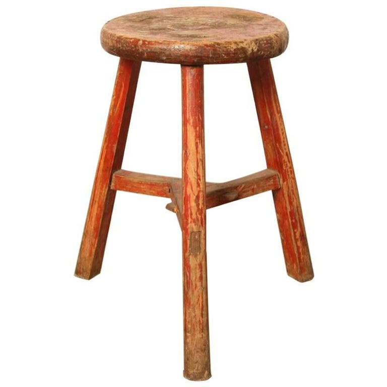 Antique 19th Century Chinese Workers Stool