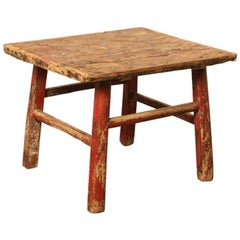 Antique 19th Century Chinese Workers Table or Stool