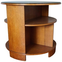 The Hague School Art Deco Books & Coffee Table with Original Cut-Glass Top