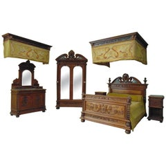 Renaissance Revival Bedroom Set, circa 1900