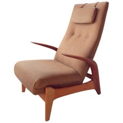 1960s Gimson & Slater Rock'n'rest Lounge Chair with Original Twill Upholstery