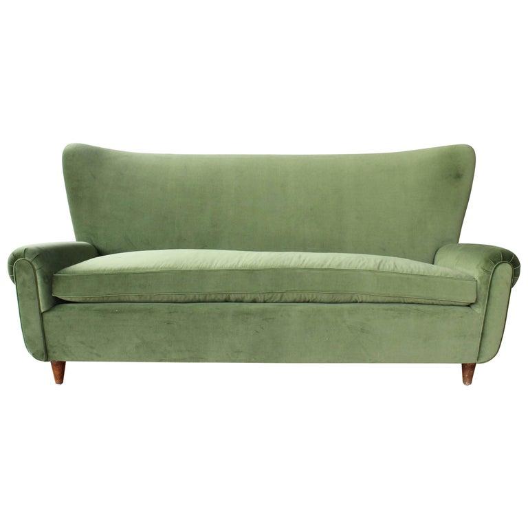 1950s Italian Wing Back Sofa