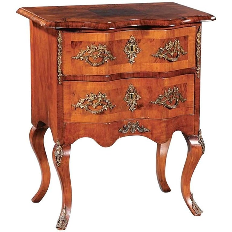 continental figured walnut and gilt metal mounted petite commode 19th century for sale at 1stdibs. Black Bedroom Furniture Sets. Home Design Ideas