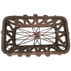 19th Century Sailor Made Ropework Basket