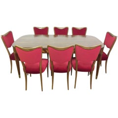 Italian Dining Room Set by Paolo Buffa and Osvaldo Borsani, Midcentury Design