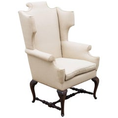1920s Georgian Style Wingback Armchair