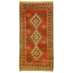 Vintage Berber Orange Moroccan Rug with Modern Style