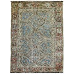 Powder Blue Persian Tribal Rug