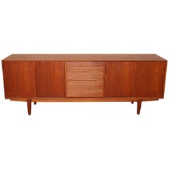 Danish Mid-Century Modern Four-Drawer Teak Sideboard by Drylund