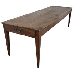 Very Long Antique Pine Farm Table