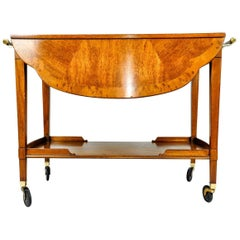 Mid-20th Century Satinwood Mahogany Bar Cart or Tea Trolly