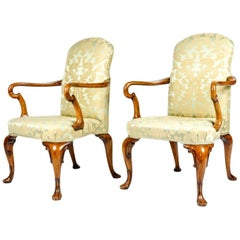 Antique Pair of English Side Armchairs