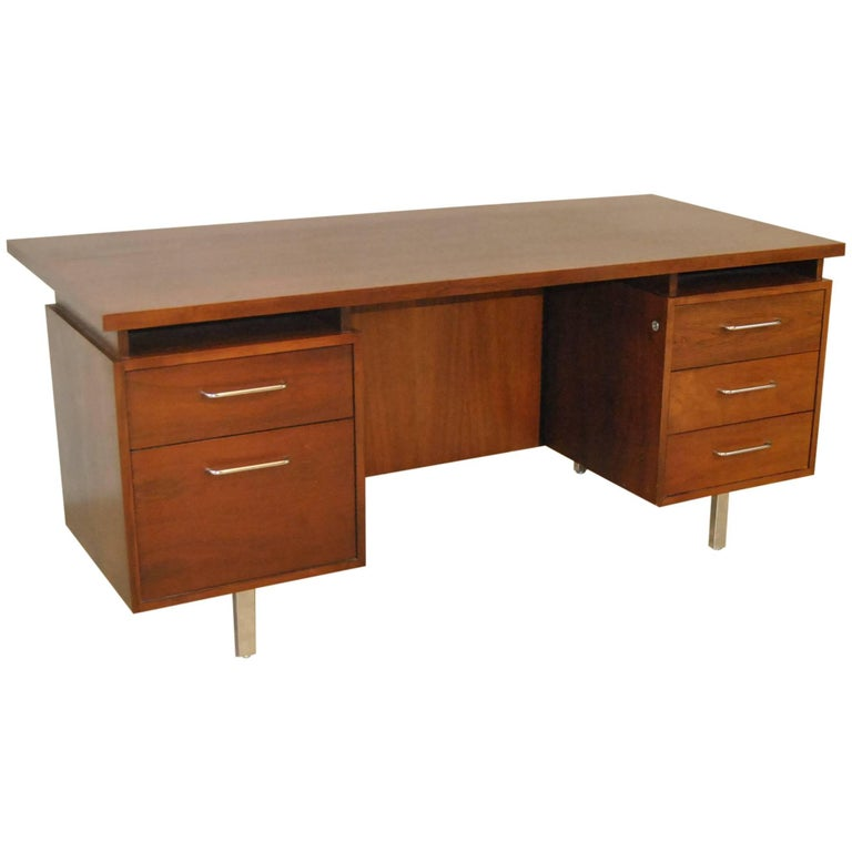 Mid Century Modern Walnut Desk By B L Marble Furniture