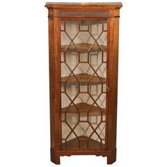 Edwardian Antique Glazed Display Corner Cabinet, English, circa 1910