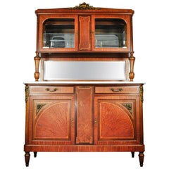 Antique Sandwood Mahogany Hutch or Cabinet