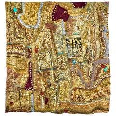 """Phantasmagoria"" Monumental Shawne Major Mixed-Media Tapestry"