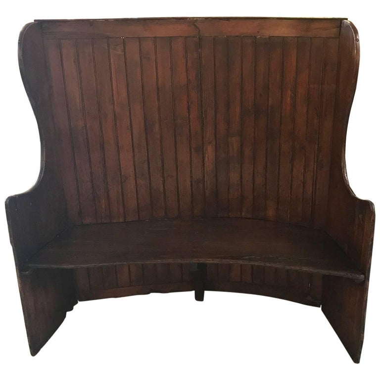 19th Century Pine Settle Bench