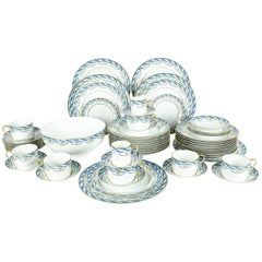 Complete Limoges Made for Tiffany Dinnerware Service for Eight People
