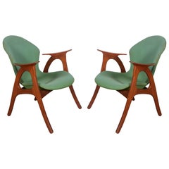 Danish Armchairs by Aage Christensen
