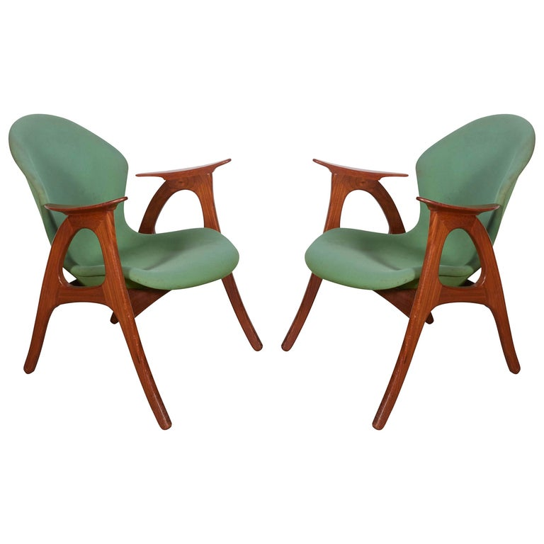Danish Armchairs by Aage Christensen 1