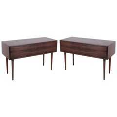 Arne Vodder for Sibast Rosewood Nightstands, Pair