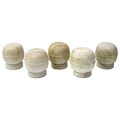 Five Marble Garden Finials