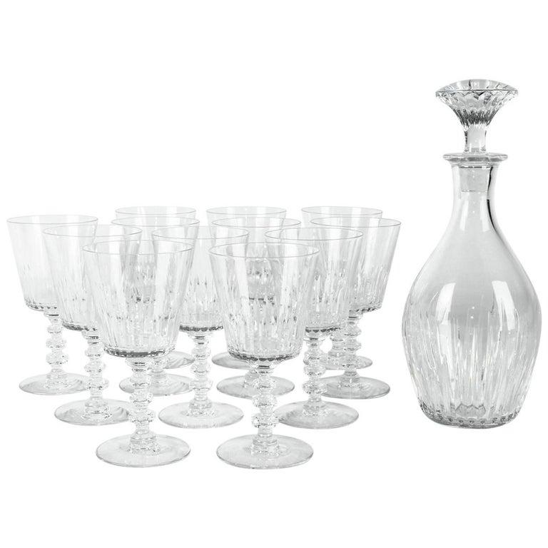 Vintage Baccarat Crystal 13 Pieces Decanter Set
