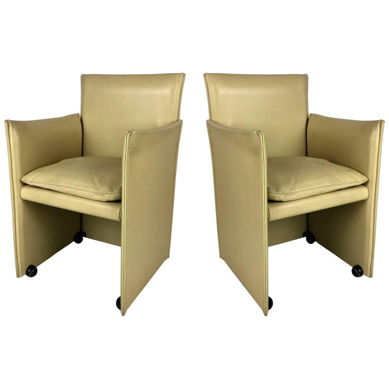 Pair of Break Chairs by Mario Bellini for Cassina 1