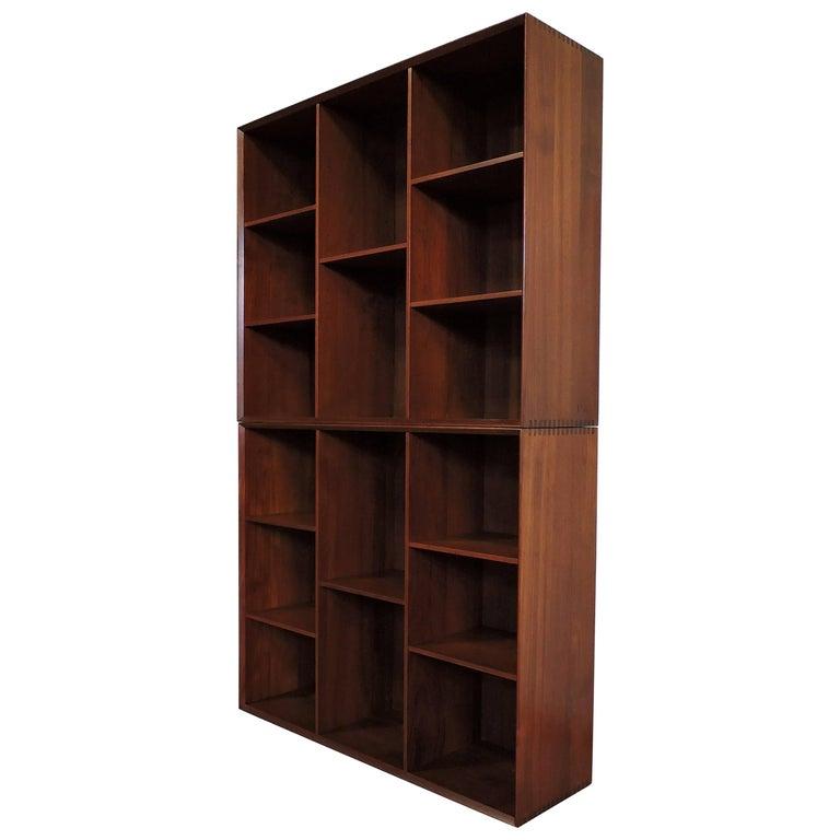 Midcentury Danish Modern Peter Hvidt Solid Teak Bookcase For Sale