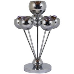 Mid-Century Modern Chrome Eyeball Table Lamp