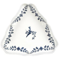 Large 18th Century Marcolini Meissen Blue and White Triangular Dish
