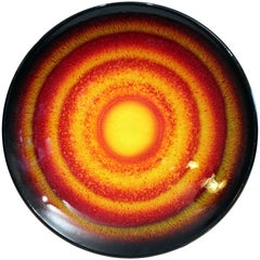 Poole English Art Pottery Large Charger Plate Sun and Moon Limited Edition