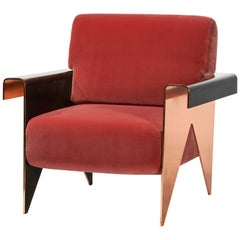 Contemporary ''Montis'' Armchair with Copper frame