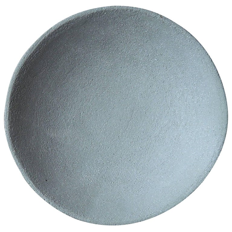 Stoneware Deep Plate by Christel Thue, Soft Mint from the Plant Series