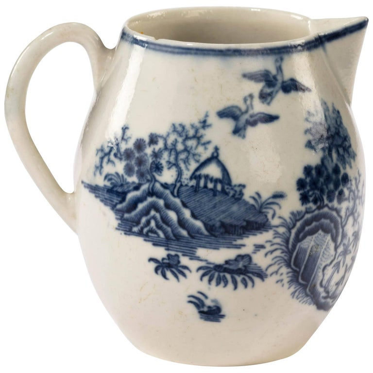 18th Century Liverpool Blue and White Printed Jug