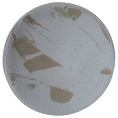 Stoneware Plate P20 by Christel Thue, Plant Series