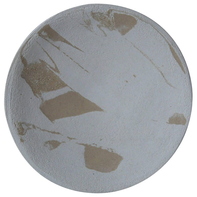 Stoneware Plate P20 by Christel Thue, Plant Series For Sale