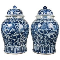 Blue and White Chinese Porcelain Ginger Jars