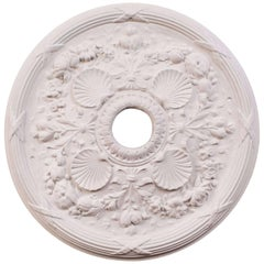 """Classic Shell"" Plaster Ceiling Medallions"