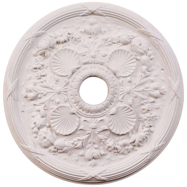 Quot Classic Shell Quot Plaster Ceiling Medallions For Sale At 1stdibs
