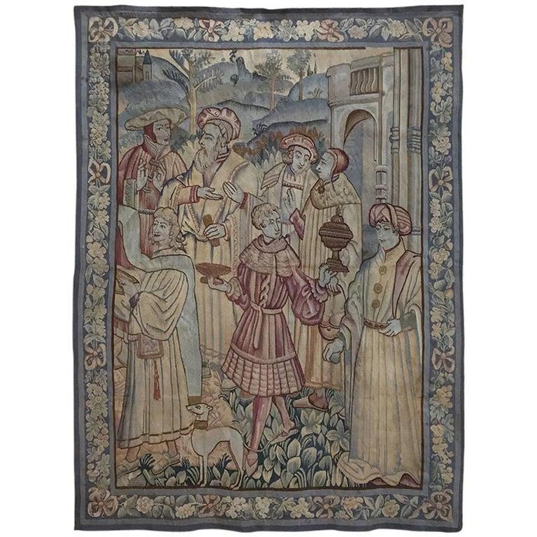 19th Century Flemish Renaissance Tapestry