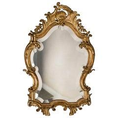 "Antique French Louis XV Style Rococo Mirror, circa 1890 (21""W x 33""H)"