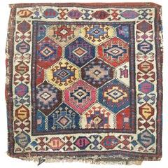 Antique Shahsavan Bagface Textile Rug