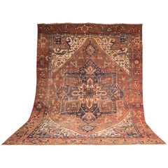 19th Century Large Antique Heriz Serapi Carpet