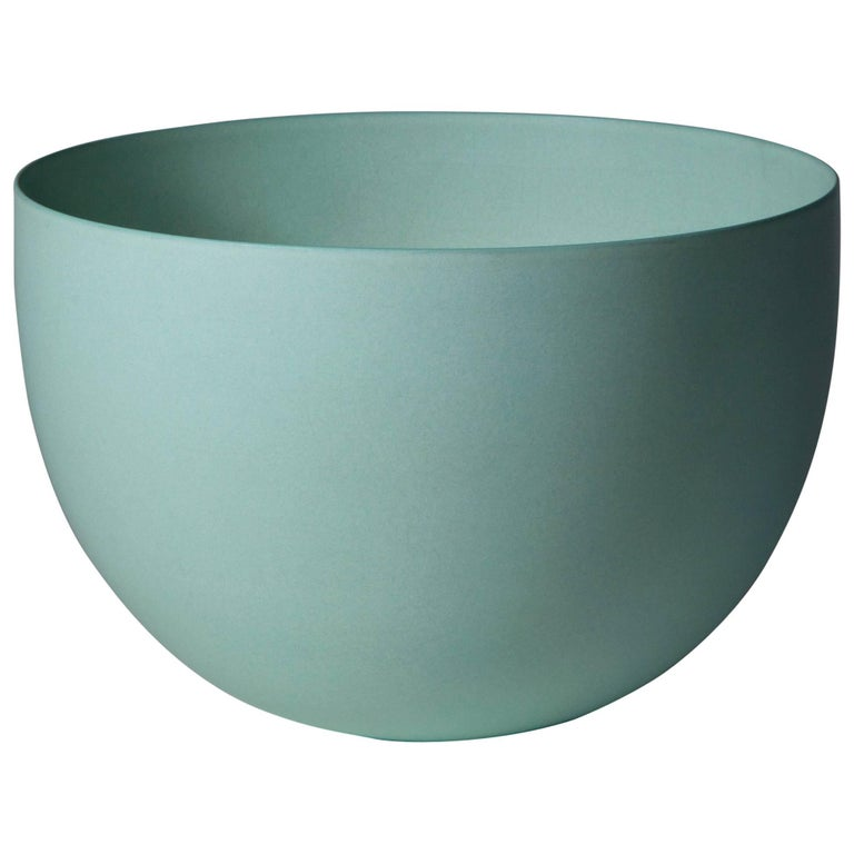 Light Green Bowl, Stoneware with Terra Sigilata Glaze, One-Off by Geert Lap For Sale