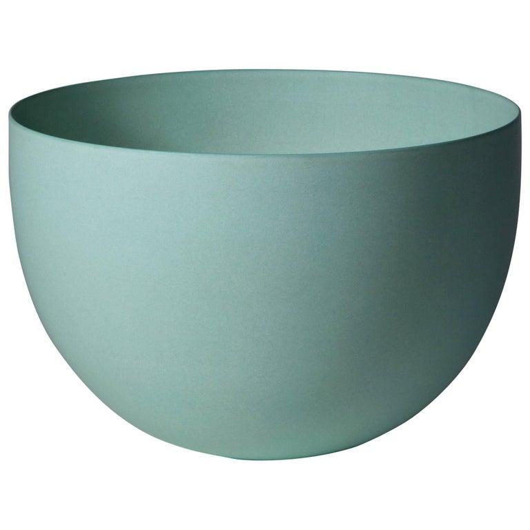 Light Green Bowl, Stoneware with Terra Sigilata Glaze, One-Off by Geert Lap 1