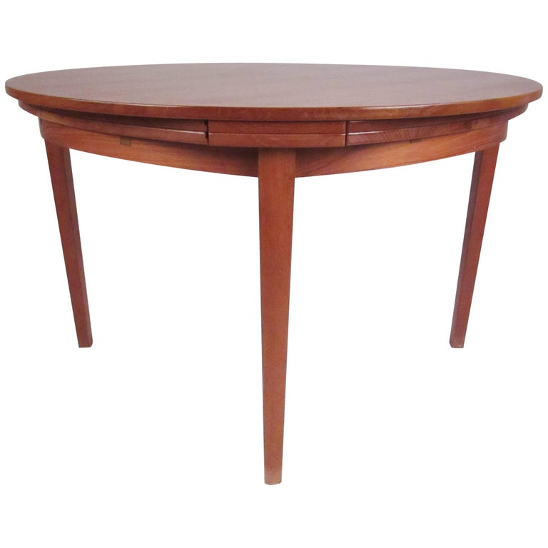 "Early ""Flip Flap"" Expandable Teak Dining Table by Dyrlund Smith"