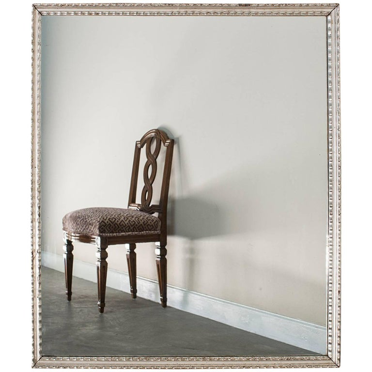 Antique French Silver Leaf Rectangular Mirror Circa 1890 For Sale At 1stdibs